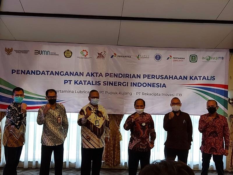 Sah, Pertamina, Pupuk Kujang dan ITB Bentuk PT Katalis Sinergi Indonesia